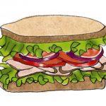 代々木上原のポタスタでサンドイッチ的なものを買って来た。